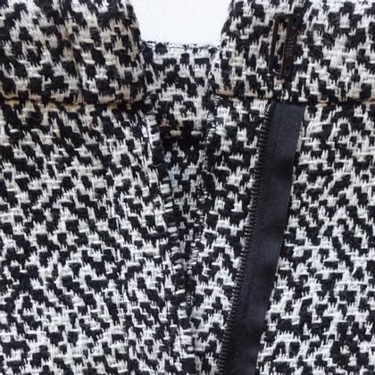 Lanvin Jupe crayon en noir / crème