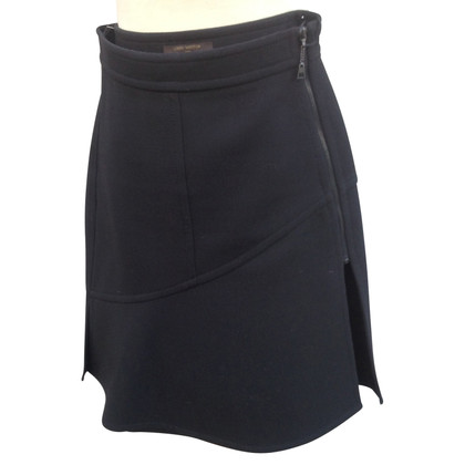 Louis Vuitton Wool skirt in black