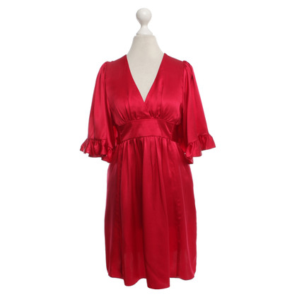 Other Designer Betsey Johnson - silk dress in red