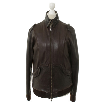 Giorgio Brato Leather jacket in Brown