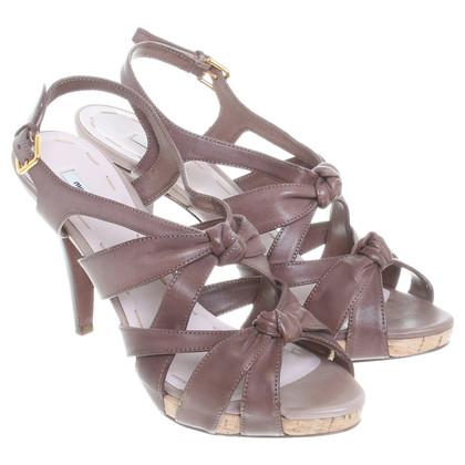 Miu Miu Sandals in Taupe