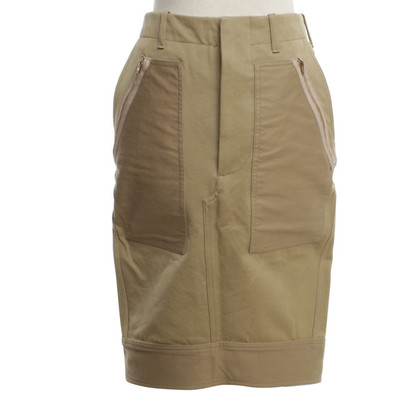 Céline skirt in bright khaki