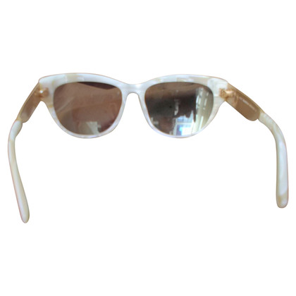 John Galliano Mother-of-pearl effect glasses
