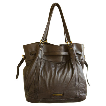 Burberry Grote Shopper in Brown Leren