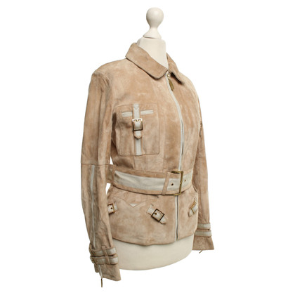 Louis Vuitton Wildlederjacke in Beige
