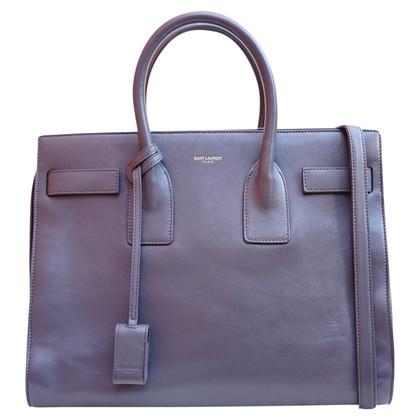 Yves Saint Laurent DE Jour grey tote bag