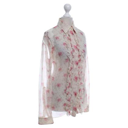 Dolce & Gabbana Blouse met roos patroon