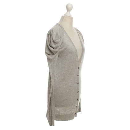 Patrizia Pepe Fine knit cardigan in gray