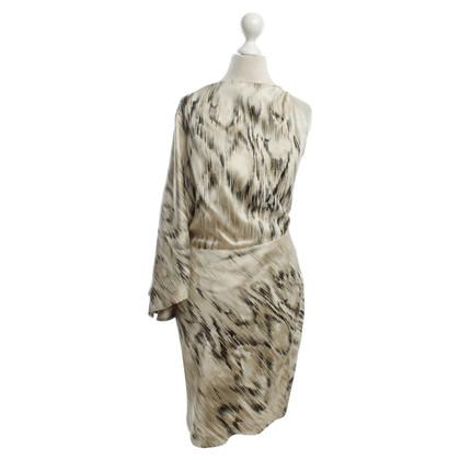 Roberto Cavalli One-Shoulder Silk Dress