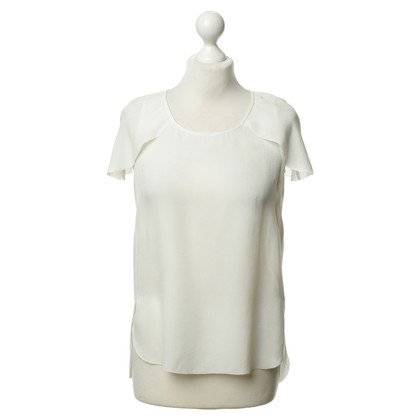 Comptoir des Cotonniers Silk top in off white