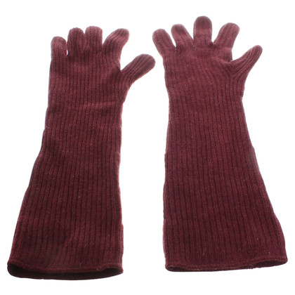 Stella McCartney Knitted gloves in Bordeaux