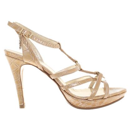 Versace Goldfarbene Sandaletten