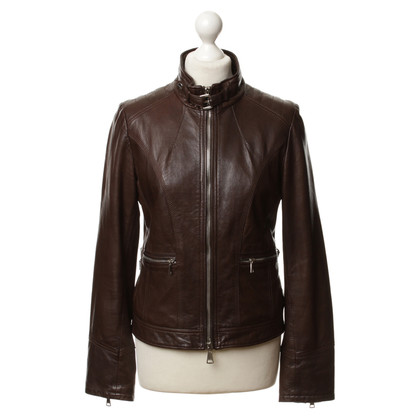 Mabrun Leather jacket in Brown