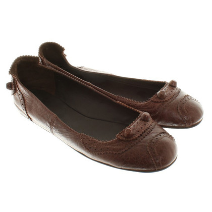 Balenciaga Ballerinas in Brown