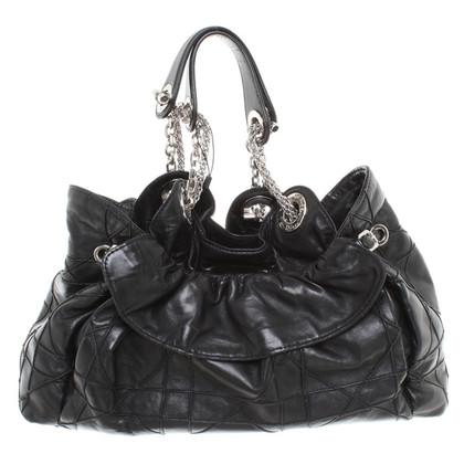 Christian Dior Strukturierte Lederhandtasche