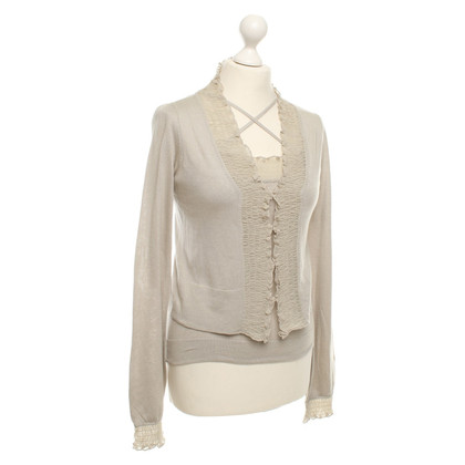 Armani Seidencardigan with top