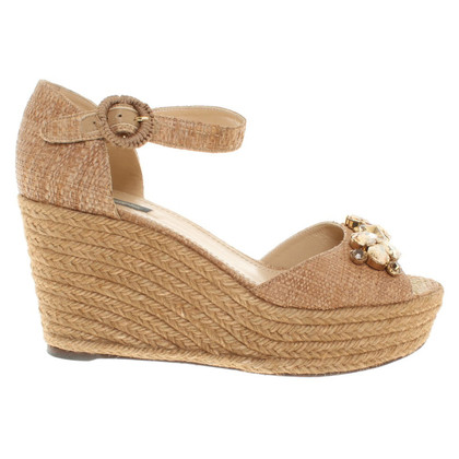 Dolce & Gabbana Wedge sandalen met decoratieve applicatie