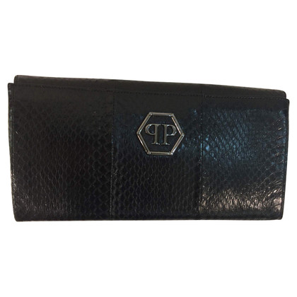 Philipp Plein clutch Python leather