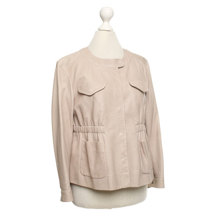 Miu Miu Leather jacket in beige