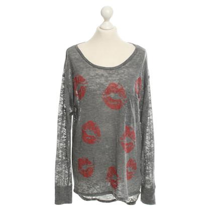 Lauren Moshi Semi-transparent shirt in bicolor