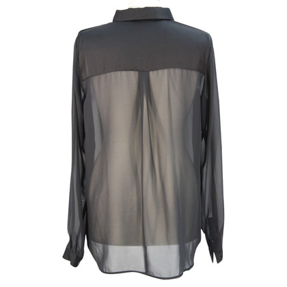 French Connection Semitransparante blouse zwart
