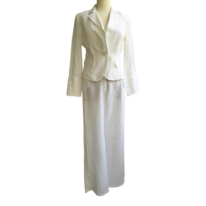 Marc Cain Linen suit with silk share