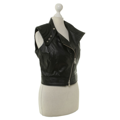 Alexander McQueen Leather vest in black