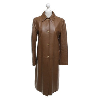 Fratelli Rossetti Leather coat in brown