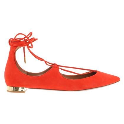 Aquazzura Chaussures en daim pour le laçage