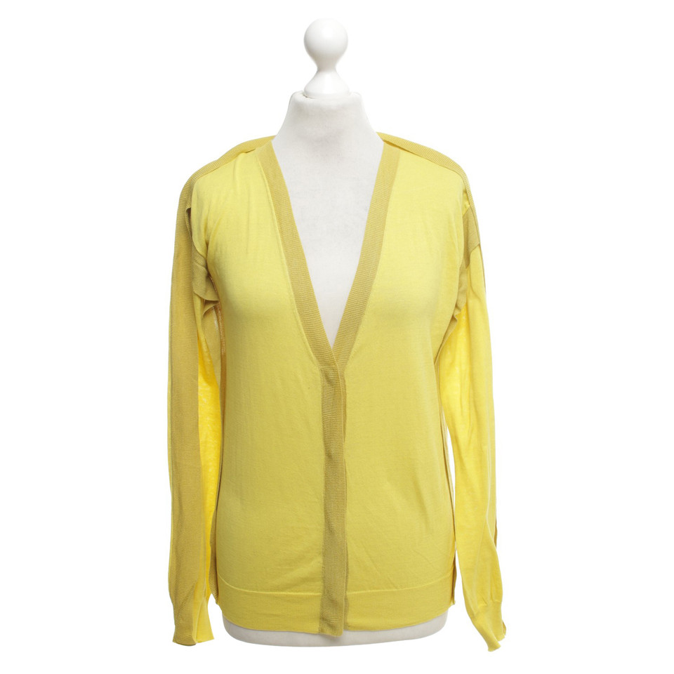 Cacharel Knit cardigan in yellow - Buy Second hand Cacharel Knit ...