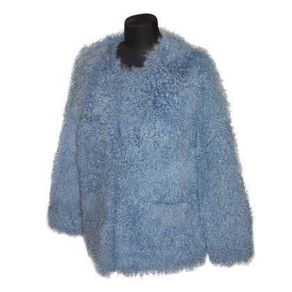 Other Designer Lambskin jacket in blue