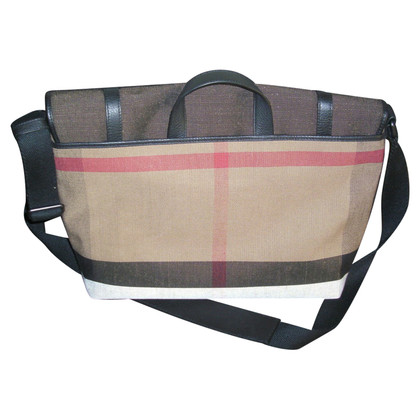 Burberry Foster Canvas Check Messenger Bag