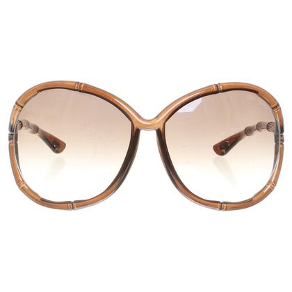 Tom Ford Sonnenbrille im Bambus-Look