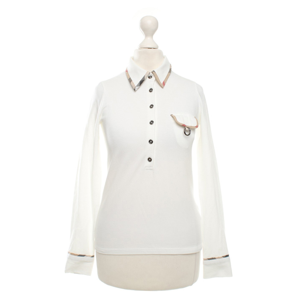 Burberry Polo Shirt In White Buy Second Hand Burberry