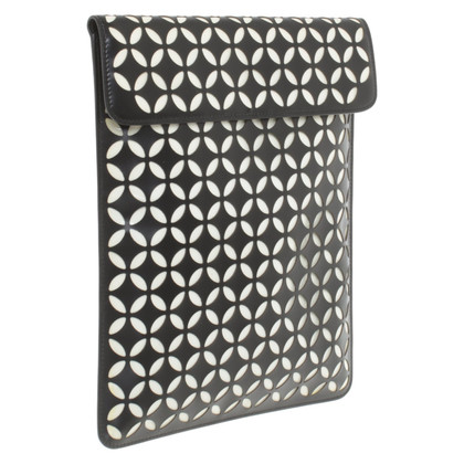 Alaïa Custodia per iPad in bianco e nero