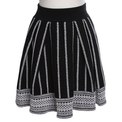 Maje skirt with stripe pattern