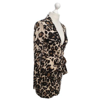 Diane von Furstenberg Cardigan con motivo leopardo