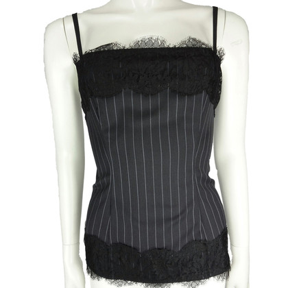D&G black pinstripe top