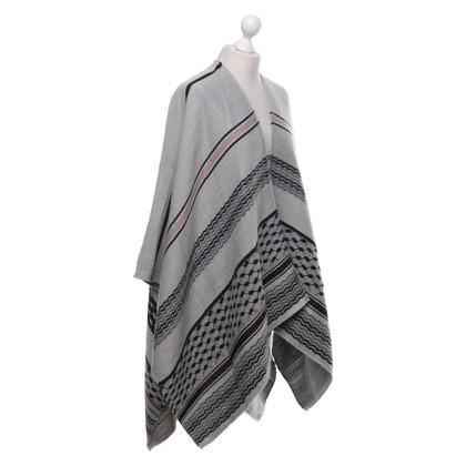 Lala Berlin Poncho en tricot avec motif