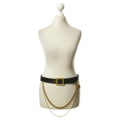 Chanel Cintura in pelle con applicazione
