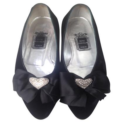 René Caovilla Ballerinas aus Samt
