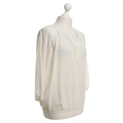Vince Zijden blouse in beige