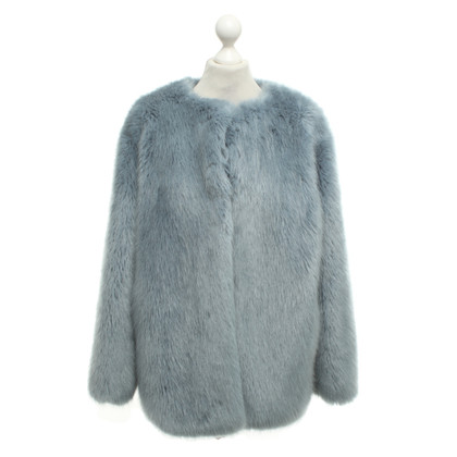 Pinko Faux fur coat in light blue
