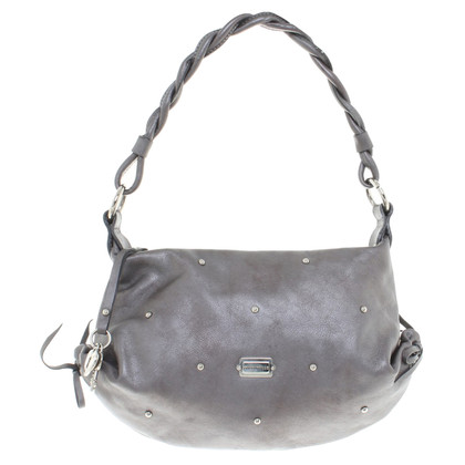 Coccinelle Small handbag in metallic taupe