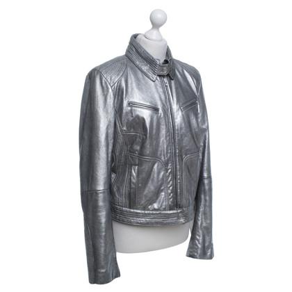 Escada Silver colored leather jacket