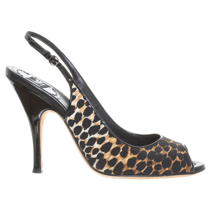 D&G Slingback of peep-toes with Leo pattern