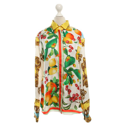 D&G Silk blouse with motif print