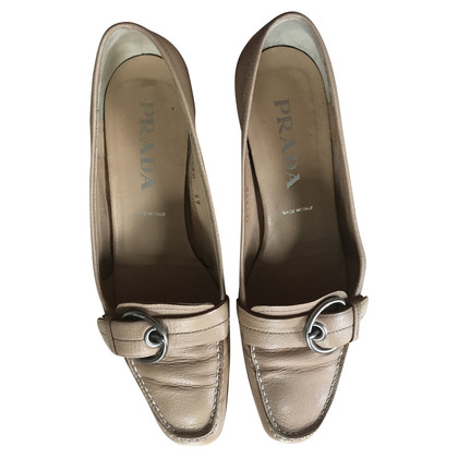Prada Loafers in nude