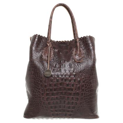 Furla Handtasche mit Reptilprägung