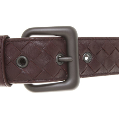 Bottega Veneta Belt in Bordeaux
